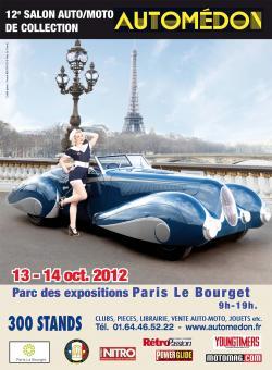 Affiche du salon Automédon 2012 ou Reskoos aura son stand