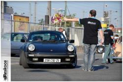 Porsche 930 au départ du Rallye à Saint-Leu-la-Forêt